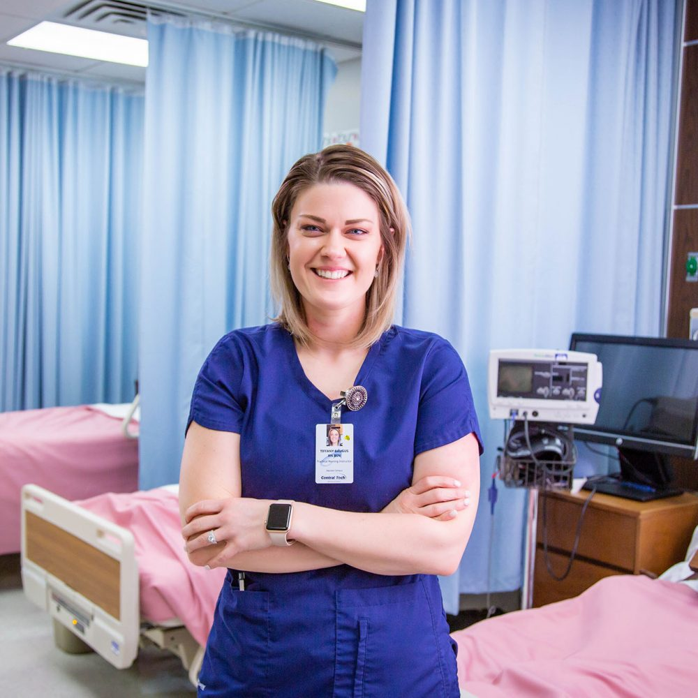 nurse in a hospital setting at Central Tech