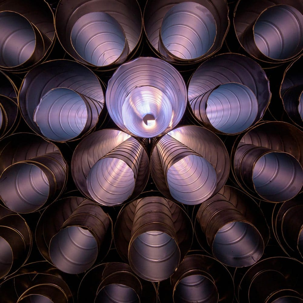 photo of HVAC tubes stacked up