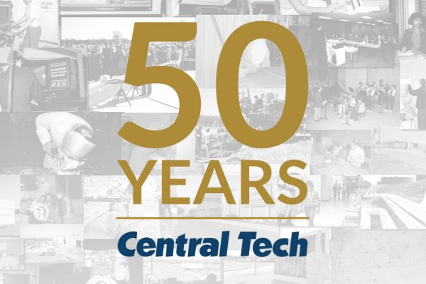 50 year picture collage for Central Tech