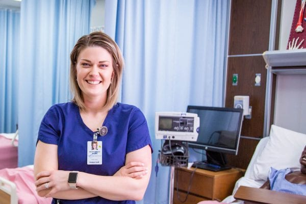 picture of a nurse in a classroom to teach nursing