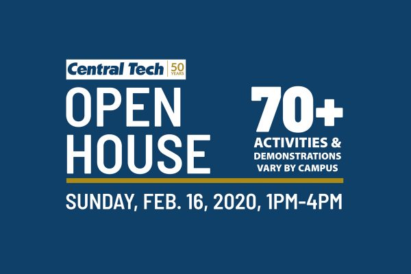 Save the Date for Open House 2020 at Central Tech