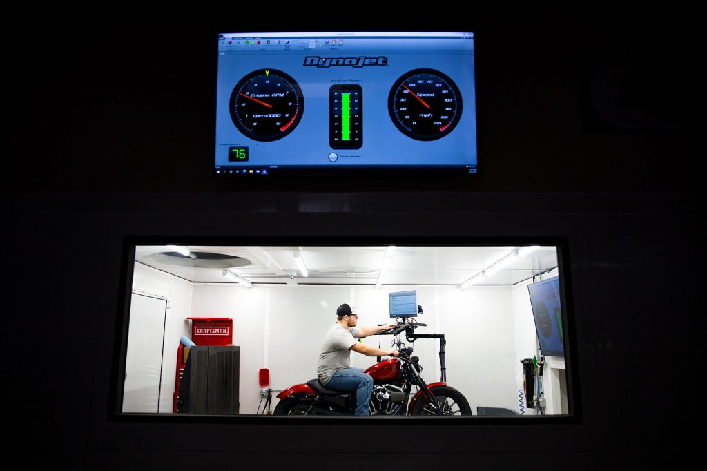 dyno jet in the powersports class at Central Tech